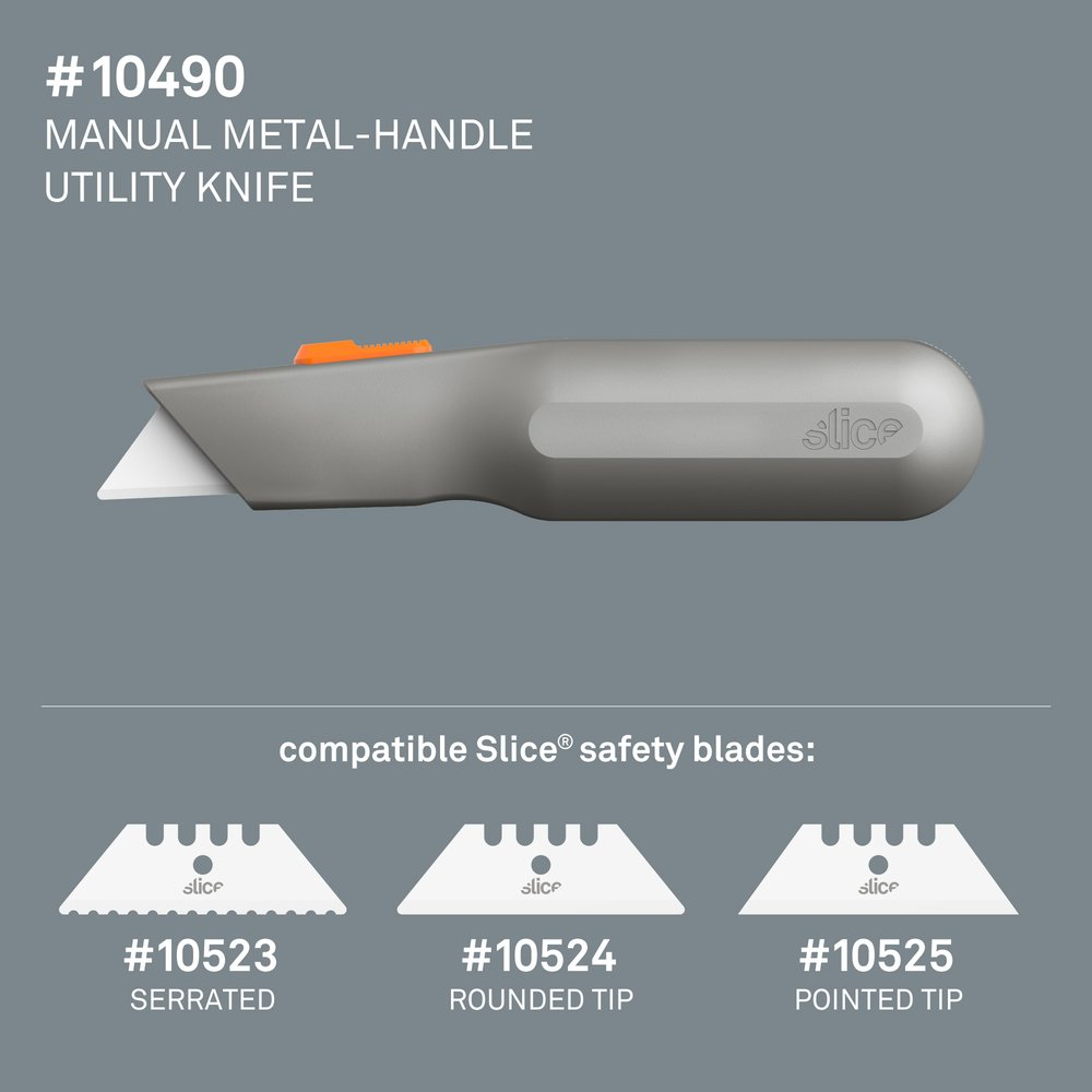 Manual Metal-Handle Utility Knife