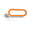 The Slice® 10598 Rotary Scissors, featuring a bladeless cutting design.